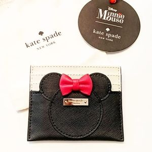 Kate Spade Minnie Mouse card wallet new